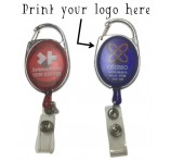 Promotional Carabiner Retractable Badge